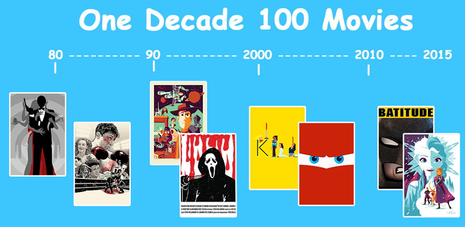 One Decade 100 Movies is now available on Google Play! Click the image !